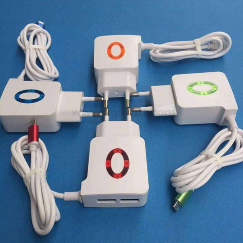 Fast EU Dual USB charger with micro USB cable