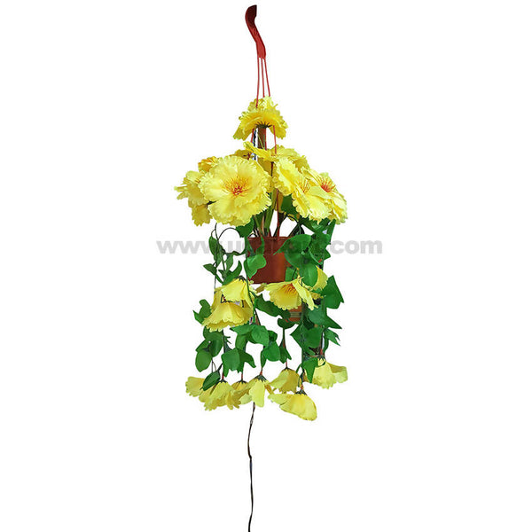 Decoration Artificial Flower Green and Yellow