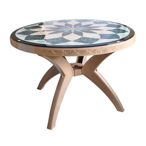 Printed Table - Round (Ang Leg)