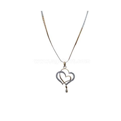 Necklace With Twin Heart Pendant