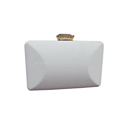 Women's Clutch Bag - White
