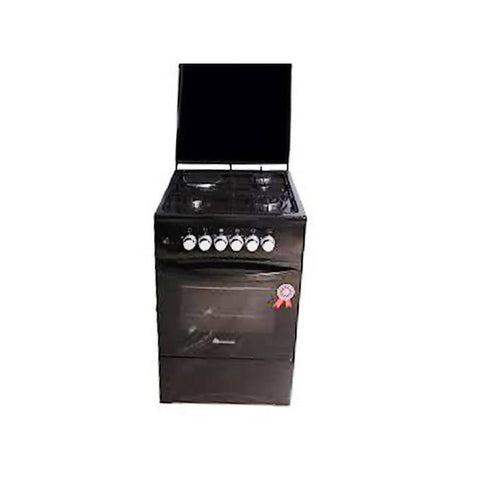 BlueFlame 3 Gas + 1 Electric Plate Gas Cooker & Oven 50*50Cm –Black