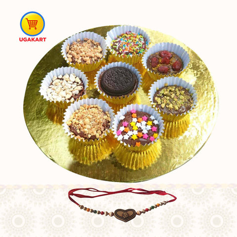 Chocolate Fudge Platter + Rakhi 1pc Combo
