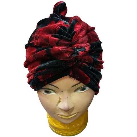 Hijab Black and Red Cloth Cap Style