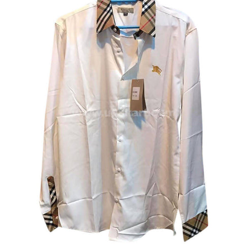 Men's White Long Sleeve Shirt