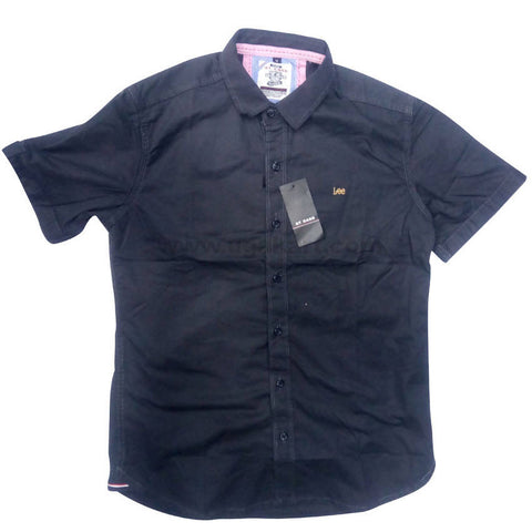 Black Half Sleeve Casual Shirt For Men