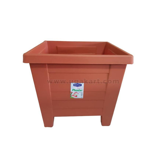 Kenpoly Sqaure Planter No.5 - Brown