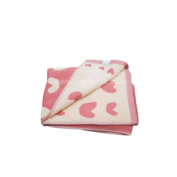 Pink And White Heartin Shapes Towel