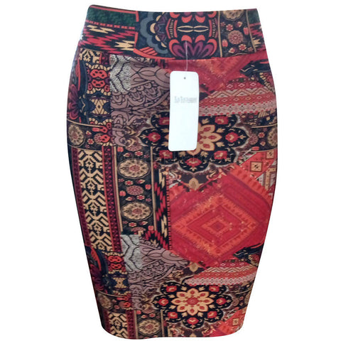 Women's Multi Color Short Tight Skirt