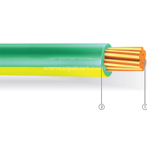 Grounding cable 16mm Yellow & Green 100Mtr