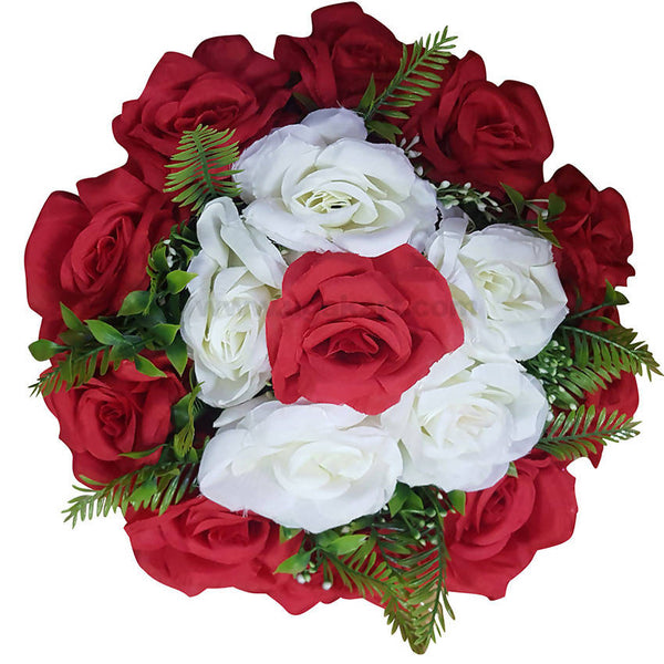 Decoration Artificial Flower Green,White and Red