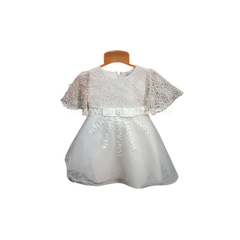 White Frock For Girl_8 mnth to 3 yr