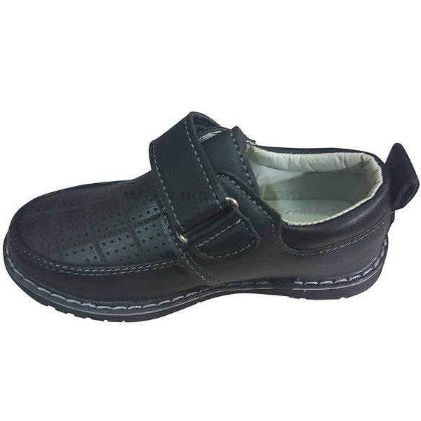 Reasan Strap Boys Black Shoes(Size-30 to 35)