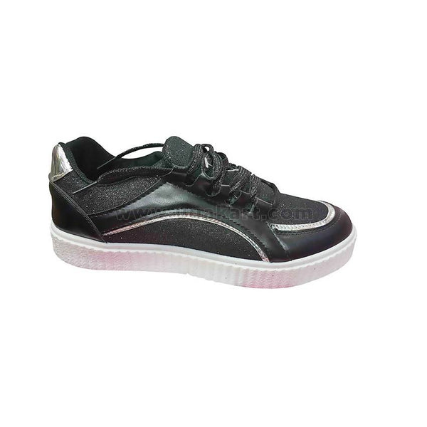 Modern Black and Silver Girls Shoes
