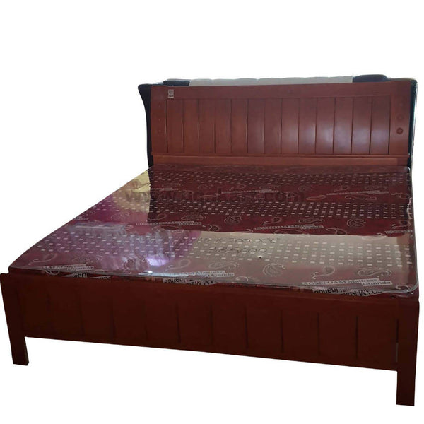Wooden Cot With Bed (6x6)