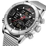 NAVIFORCE Men's Stainless Steel Watch Silver