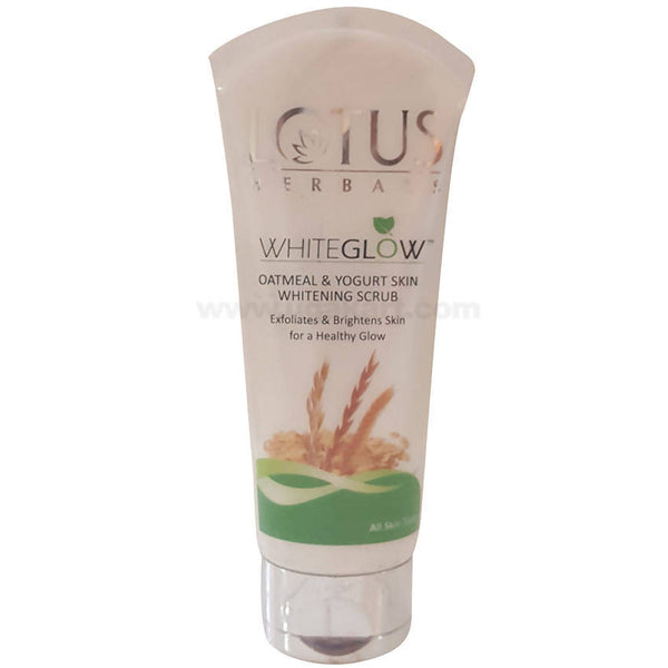 LOTUS WhiteGlow Oatmeal & Yogurt Skin Whitening Scrub 100ml