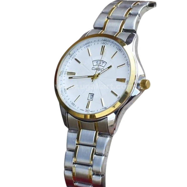 CASIO Steel White Dial Analog Men's Watch