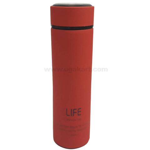 Life Red Vacuum Flask