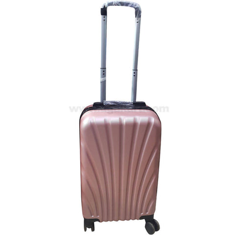 Pink Beige Hardside Spinner Luggage Suitcase (Small)