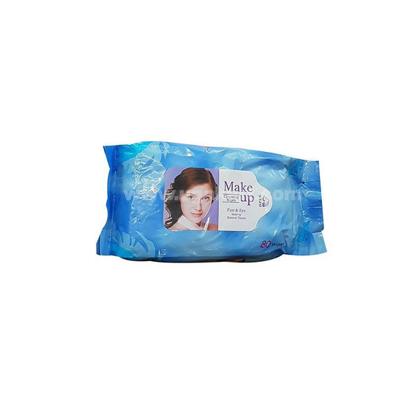 Make Up Face & Eye 80 Wipes Blue