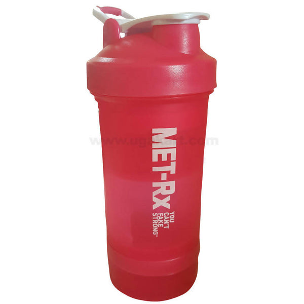 MET-Rx Protien Shaker Gym Bottle_All Red_Small (500ML)