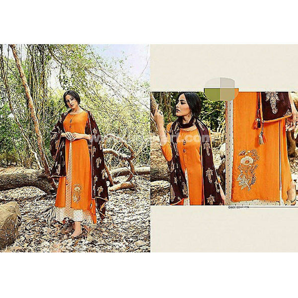 Long one pc Dress With Duppata Cotton Material- XXL (Bust Size - 44)