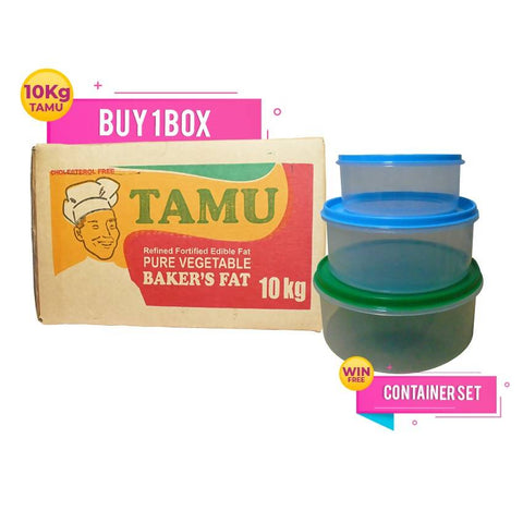 BUY TAMU BAKER'S FAT ONE BOX 10 KG PACK & GET 1 FOOD CONTAINER SET FREE