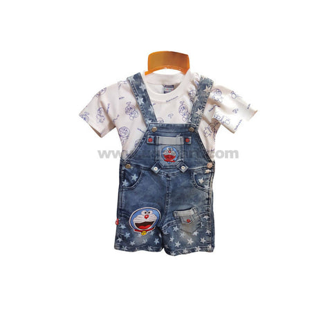 Light Blue Dungaree Dress For Boy_6 m to 1 yr