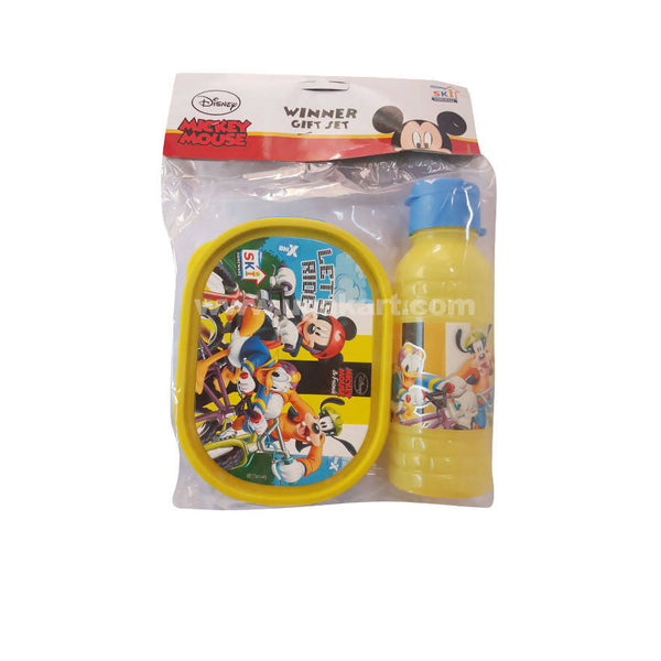 Ski Mickey Mouse Winner Gift Set Lunch Box And Water Bottle