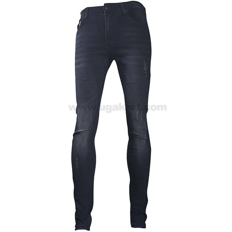 Dark Blue and White Shade Jeans For Women_28 to 34