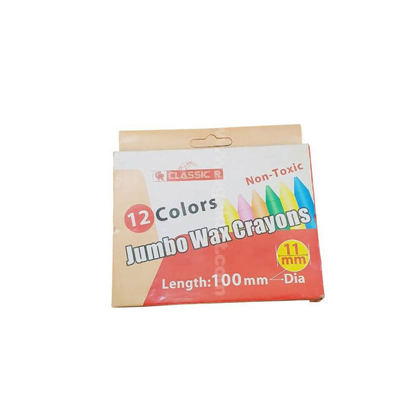 Classic R 12 Colours Jumbo Wax Crayons 11Mm