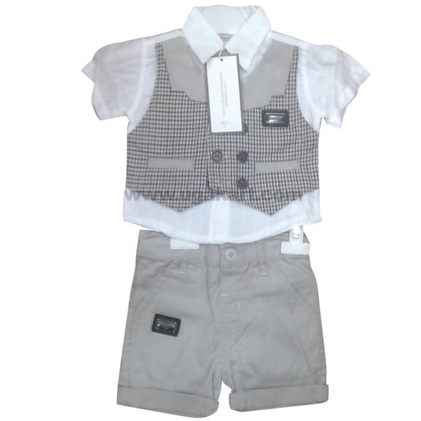 White & Grey Boys Wear (0-1yr)