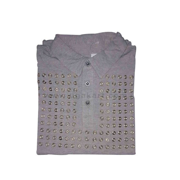 Grey Mens Tshirt With Collar