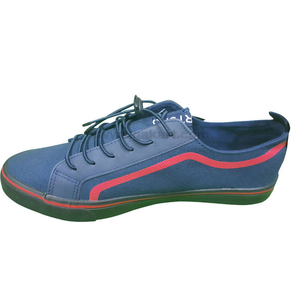 Blue with Red stripes Men's Shoes