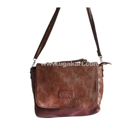 Leather Shoulder Bag - Coffee Brown