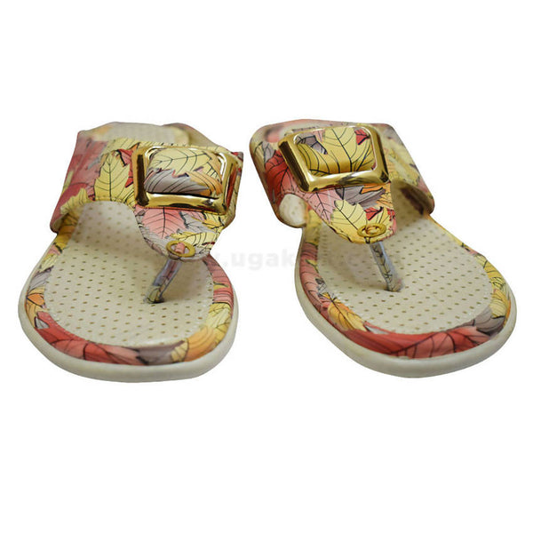Cream Colour Floral Sandal For Women's