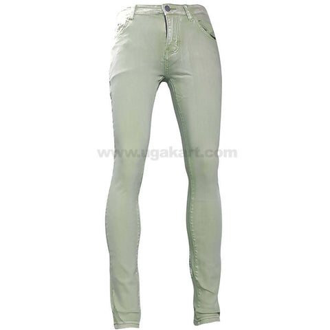 Green Shade Denim Jeans For Women_28 to 34