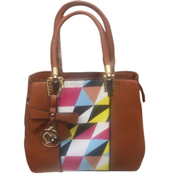 Multi Color and Brown Hand Bag