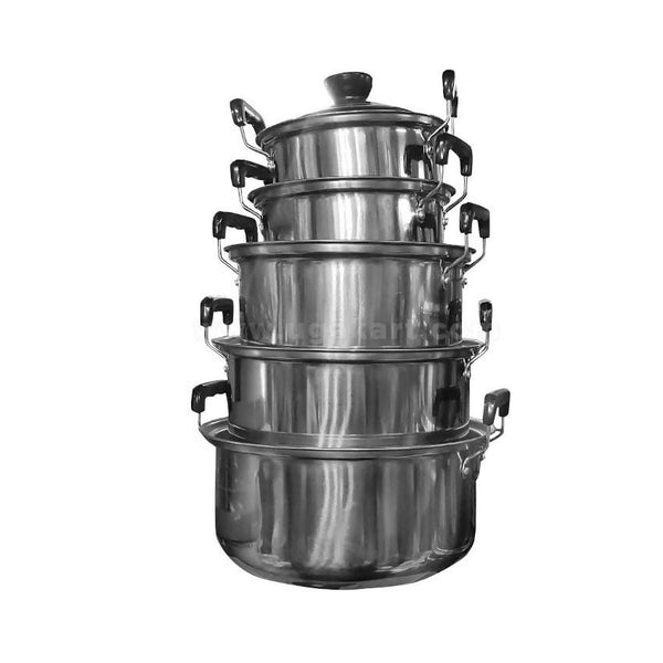Stainless Steel Pot Set Of 5 With Closer