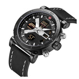 NAVI Force Black and Black Digital and Analog Watch
