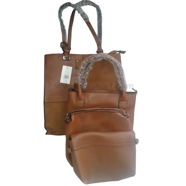 Brown Hand Bag Set of 3