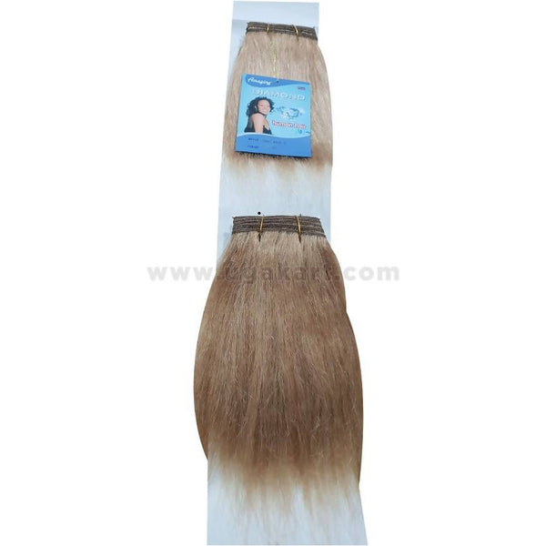 Human Hair Weave-Golden Brown -2 Pc With 8 Inch