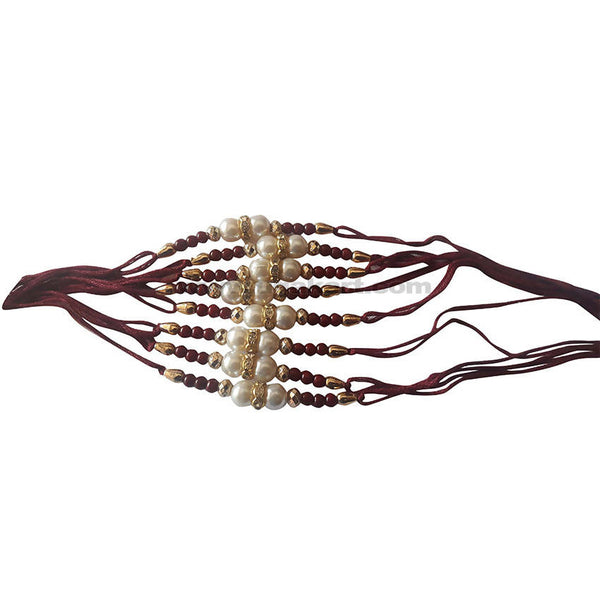 Golden and Maroon Rakhi 1Pc