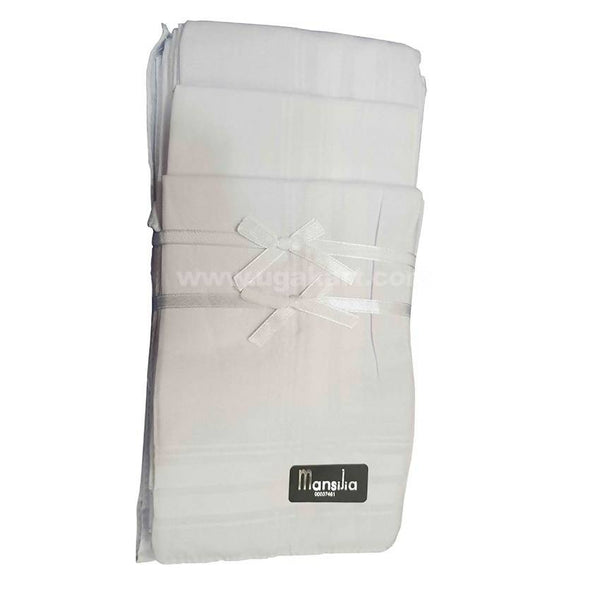 Mansijia Plain White Handkerchief_3PC
