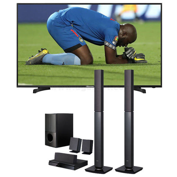 Hisense 40 Smart Tv Black and LG 647 Home Theater 1000W Combo