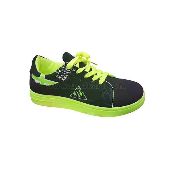 Black and Green Girls Shoes