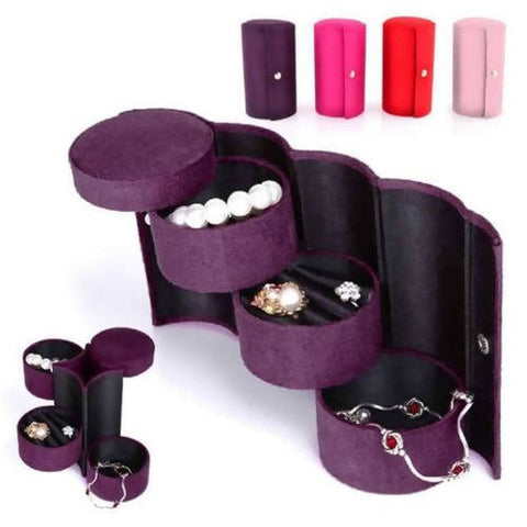 Purple Travel Jewelry Organizer