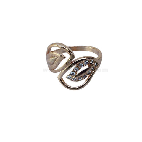 Leaf n Leaf Gold Plated With Stone Finger Ring