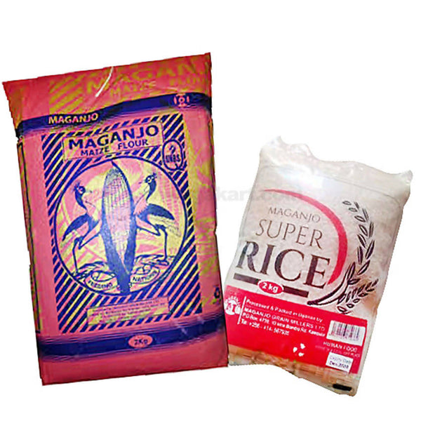 Special Combo Pack Of Maize Flour & Super Rice- 2Kg